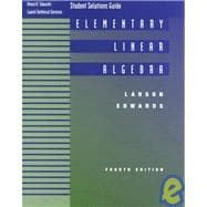 Elementary Linear Algebra Student Solutions, Fourth Edition : Used with ... Larson-Elementary Linear Algebra