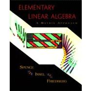 Elementary Linear Algebra : A Matrix Approach
