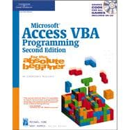 Microsoft Access Vba Programming For The Absolute Beginner