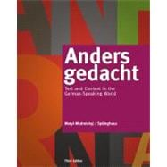 Anders gedacht Text and Context in the German-Speaking World