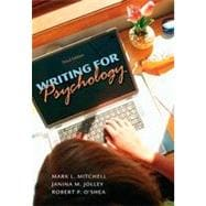 Writing for Psychology, 3rd Edition