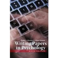 Writing Papers in Psychology, 9th Edition