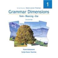 Grammar Dimensions Bk. 1 : Form - Meaning - Use