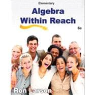 Elementary Algebra Algebra Within Reach