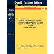 Outlines and Highlights for Elementary Differential Equations and Boundary Value Problems by William E Boyce, Richard C Diprima, Isbn : 9780471433385