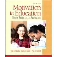 Motivation in Education Theory, Research, and Applications