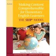 Making Content Comprehensible for Elementary English Learners : The SIOP Model