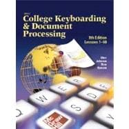 Gregg College Keyboarding &amp; Document Processing (GDP), Lessons 1-60, Student Text