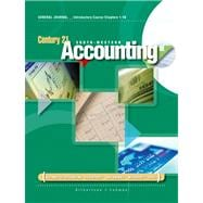 Introductory Course, Chapters 1-16 for Gilbertson/Lehman's Century 21 Accounting: General Journal, 9th