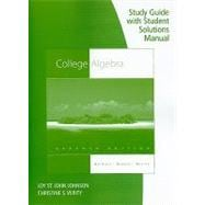 Study Guide with Student Solutions Manual for Aufmann/Barker/Nation's College Algebra, 7th