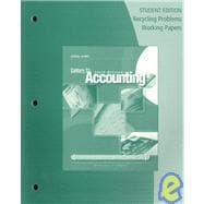 Recycling Problems Working Papers for Gilbertson/Lehman's Century 21 Accounting: General Journal, 9th