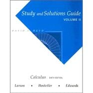 Study Guide with Solutions, Volume 2 for Larson/Hostetler/Edwards� Calculus, 6th