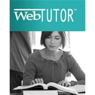 WebTutor on WebCT Instant Access Code for Pagano's Understanding Statistics in the Behavioral Sciences