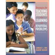 Strategies For Teaching Students With Learning And Behavior Problems