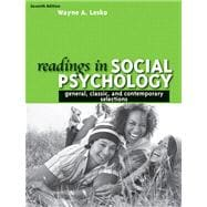 Readings in Social Psychology : General, Classicnd Contemporary Selections- (Value Pack W/MySearchLab)