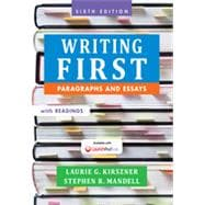 Writing First with Readings Paragraphs and Essays