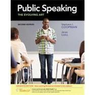 Public Speaking The Evolving Art, Enhanced (with CourseMate with InfoTrac 1-Semester, Interactive Video Activities, SpeechBuilder Express� 3.0 1-Semester, SpeechStudio 2.0 Printed Access Card)
