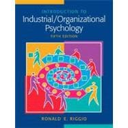 Intro To Industrial Organz Psych&Mysrch Pkg