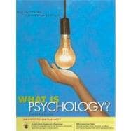 What is Psychology? PsykTrek 3.0 Enhanced Edition
