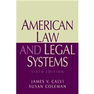 American Law And Legal Systems- (Value Pack w/MySearchLab)