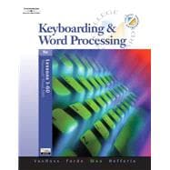 Keyboarding & Word Processing, Lessons 1-60 (with Data CD-ROM)