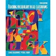Teaching Vocabulary in All Classrooms