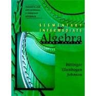 Elementary and Intermediate Algebra: Concepts and Applications, a Combined Approach