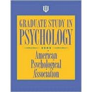 Graduate Study in Psychology : 2002 Edition