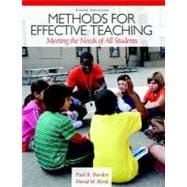 Methods for Effective Teaching Meeting the Needs of All Students
