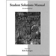 Student's Solutions Manual for Introduction to Chemistry