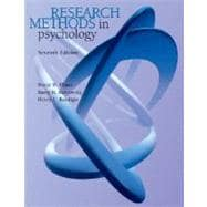 Research Methods in Psychology (with InfoTrac)