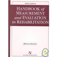 Handbook of Measurement and Evaluation in Rehabilitation