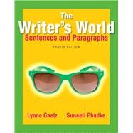 The Writer's World Sentences and Paragraphs Plus MyWritingLab with Pearson eText -- Access Card Package