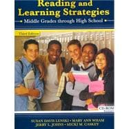 Reading & Learning Strategies: Middle Grades Through High School
