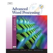 Advanced Word Processing, Lessons 61-120 (with Data CD-ROM)