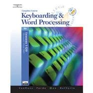 Keyboarding & Word Processing, Complete Course, Lessons 1-120 (with Data CD-ROM)
