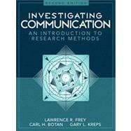 Investigating Communication An Introduction to Research Methods