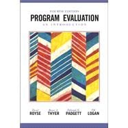 Program Evaluation An Introduction