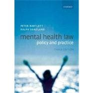 Mental Health Law Policy and Practice