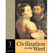 Civilization in the West, Volume I (to 1715) (with Study Card)