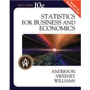 Statistics for Business and Economics, Revised (with Student CD-ROM)