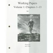 Work Papers (print) Vol 1 to accompany Financial Accounting, Vol 1 (Chap. 1-13)