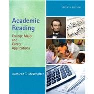 Academic Reading : College Major and Career Applications with NEW MyReadingLab Student Access Code Card