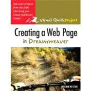 Creating a Web Page in Dreamweaver : Visual QuickProject Guide