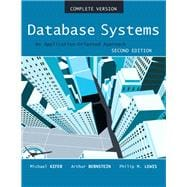Database Systems An Application Oriented Approach, Compete Version