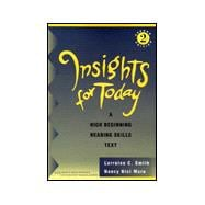 Insights for Today Text A High Beginning Reading Skills