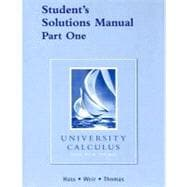 University Calculus Student's Solutions Manual Part One