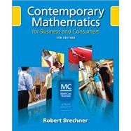 Contemporary Mathematics for Business and Consumers (with Student Resource CD with MathCue.Business)