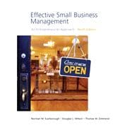 Effective Small Business Management Value Package (includes Business Plan Pro, Entrepreneurship: Starting and Operating a Small Business)