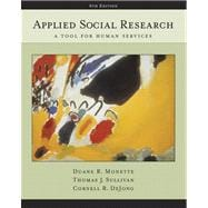 Applied Social Research A Tool for Human Services (with InfoTrac)